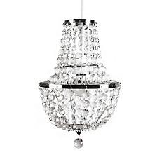 Tadpoles Chandelier Faux-Crystal and Chrome Pendant