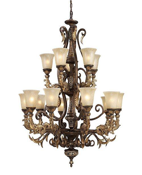 ELK Lighting Regency 15-Light Chandelier in Burnt Bronze