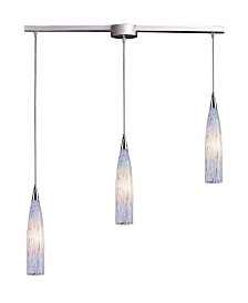 Lungo Collection 3 Light Linear Bar Snow White Glass