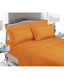 Elegant Comfort 4-Piece Luxury Soft Solid Bed Sheet Set California King