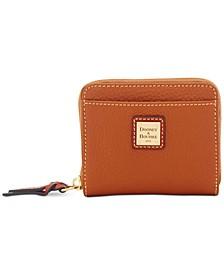 Pebble Leather Zip Wallet