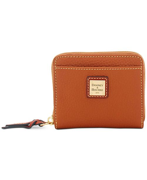 Dooney & Bourke Pebble Leather Zip Wallet