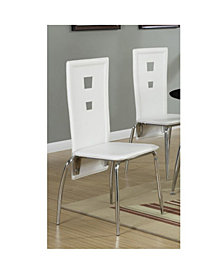 Benzara Set of 2 Metal Dining Chair with Cutout Back