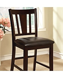 Benzara Leatherette Parson Chair Counter Height Chair, Set of 2