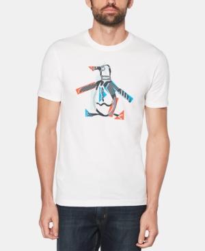 Original Penguin T-shirts MEN'S STARS N STRIPES PETE LOGO GRAPHIC T-SHIRT