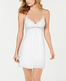 INC Lace-Bodice Chiffon Chemise Nightgown , Created for Macy's