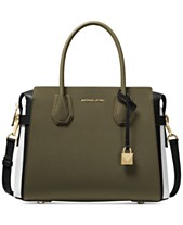 27b920a3a8 MICHAEL Michael Kors Mercer Belted Tricolor Pebble Leather Satchel
