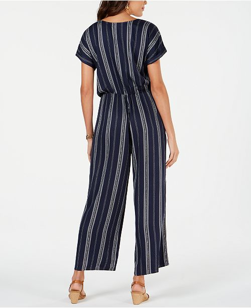 e11dd4b5c3a ... Style   Co Petite Printed Blouson Jumpsuit