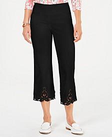 Crochet Hem Wide Leg Pants, Created for Macy's