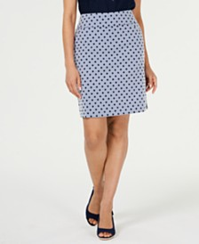 Charter Club Dotted Pull-On Skort, Created for Macy's