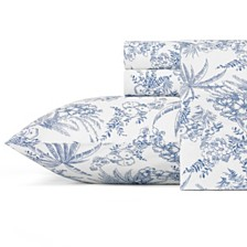 Tommy Bahama Pen and Ink Palm Queen Sheet Set