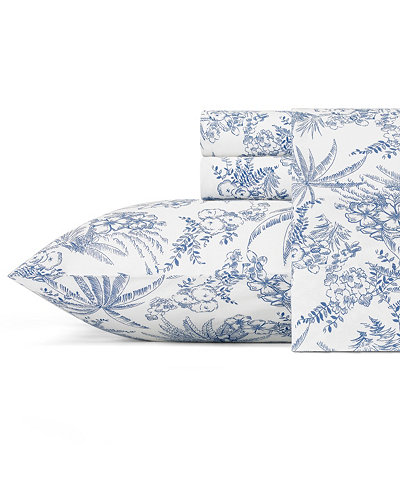 Tommy Bahama Pen and Ink Palm King Sheet Set