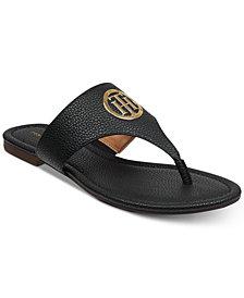 829d43ff7d2 Tommy Hilfiger Black Women s Sandals and Flip Flops - Macy s