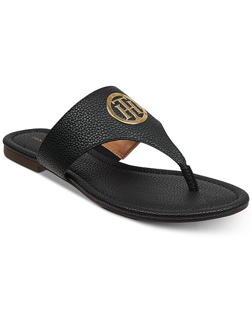 8bd3e420f Tommy Hilfiger Sinder Flat Sandals  Tommy Hilfiger Sinder Flat Sandals ...