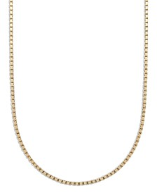 "Giani Bernini 18K Gold over Sterling Silver Necklaces, 18-30"" Box Chain"
