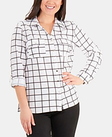 Dot-Print Utility Shirt
