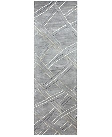 """Downtown HG351 Gray 2'6"""" x 8' Runner Area Rug"""