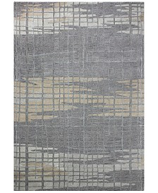 "Downtown HG364 Gray 3'9"" x 5'9"" Area Rug"