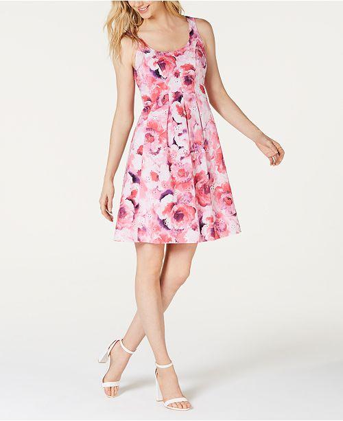 Pappagallo Floral-Print Eyelet Dress