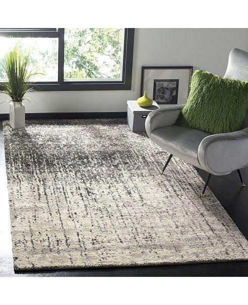 Safavieh Retro Black and Gray 8' x 10' Area Rug