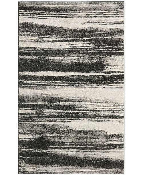 Safavieh Retro Dark Gray and Light Gray 10' x 14' Area Rug
