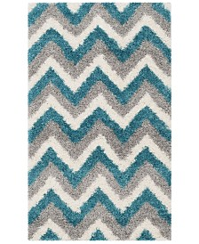 Safavieh Shag Kids Ivory and Blue 3' x 5' Area Rug