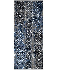 "Adirondack Silver and Multi 2'6"" x 8' Runner Area Rug"