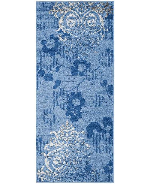 "Safavieh Adirondack Light Blue and Dark Blue 2'6"" x 8' Runner Area Rug"