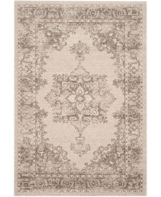 Carmel Beige and Brown 4' x 6' Area Rug
