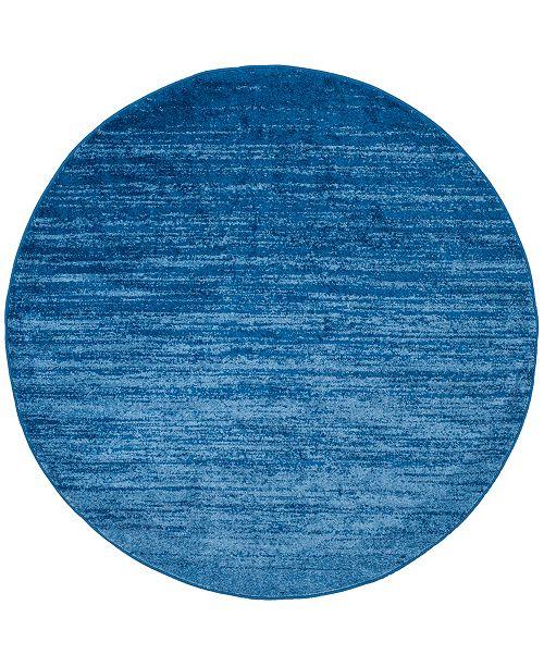 Safavieh Adirondack Light Blue and Dark Blue 4' x 4' Round Area Rug