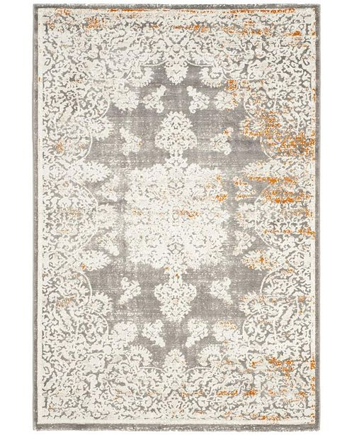 Gray And Ivory 10 X 14 Area Rug