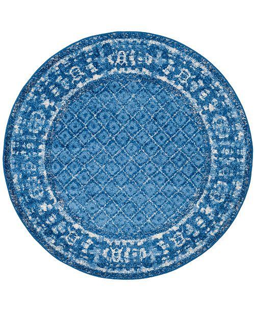 Safavieh Adirondack Light Blue and Dark Blue 8' x 8' Round Area Rug