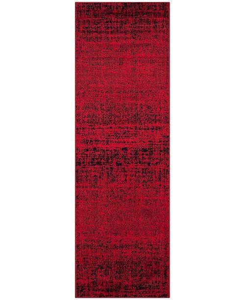 "Safavieh Adirondack Red and Black 2'6"" x 18' Runner Area Rug"