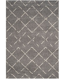Safavieh Arizona Shag Gray and Ivory 4' x 6' Area Rug