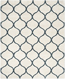 Hudson Ivory and Slate Blue 8' x 10' Area Rug