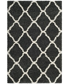 Hudson Dark Gray and Ivory 6' x 9' Area Rug