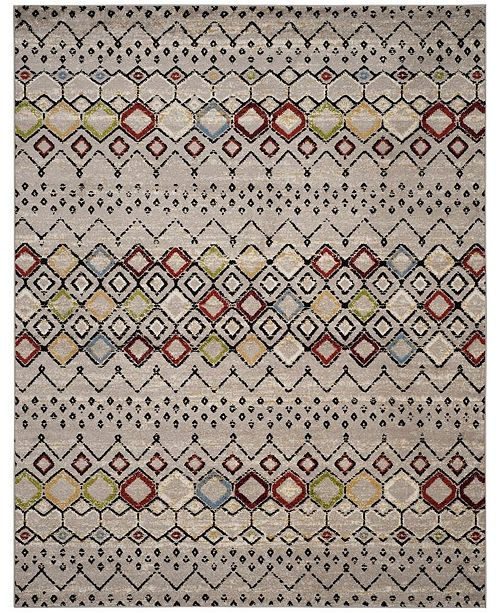 Safavieh Amsterdam Light Gray and Multi 9' x 12' Sisal Weave Area Rug