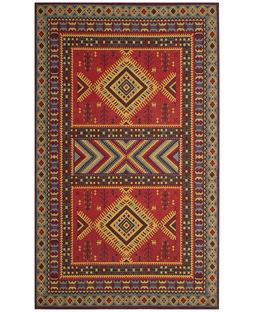 """Safavieh Classic Vintage Red and Slate 6'7"""" x 9'2"""" Area Rug"""