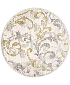 Amherst Ivory and Light Gray 9' x 9' Round Area Rug