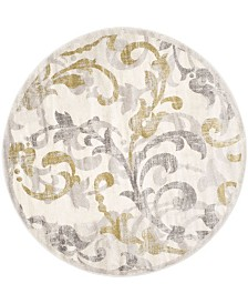 Safavieh Amherst Ivory and Light Gray 9' x 9' Round Area Rug