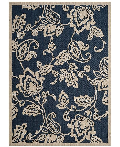 "Safavieh Martha Stewart Navy and Beige 2'7"" x 5' Area Rug"