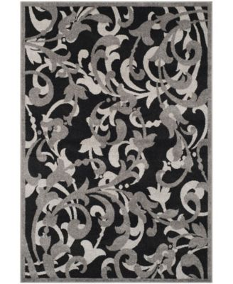 Amherst Anthracite and Light Gray 7' x 7' Square Area Rug