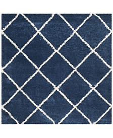 Safavieh Hudson Navy and Ivory 5' x 5' Square Area Rug