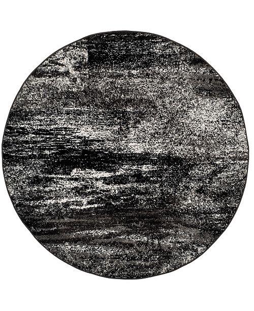 Safavieh Adirondack Silver and Black 10' x 10' Round Area Rug