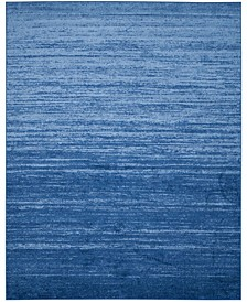 Adirondack Light Blue and Dark Blue 11' x 15' Area Rug