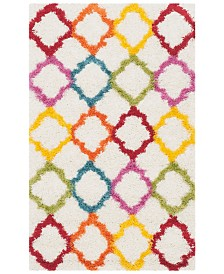 "Safavieh Shag Kids Ivory and Multi 2'3"" x 5' Area Rug"