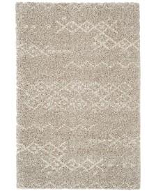 "Safavieh Arizona Shag Gray and Ivory 6'7"" x 9'2"" Sisal Weave Area Rug"