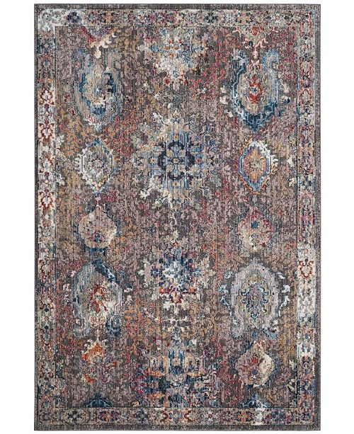 Safavieh Bristol Dark Gray and Blue 8' x 10' Area Rug