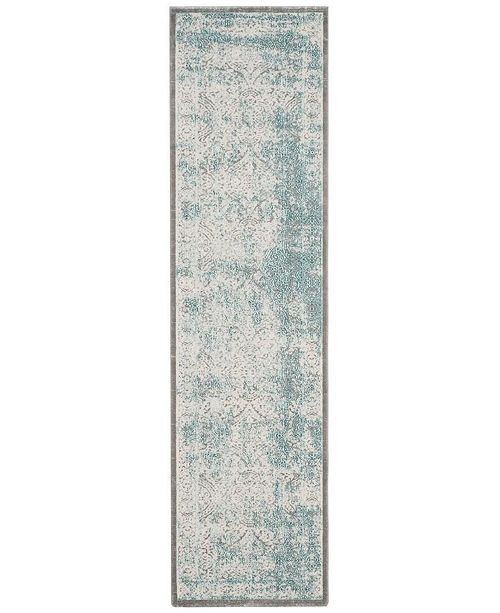 """Safavieh Passion Turquoise and Ivory 2'2"""" x 12' Runner Area Rug"""