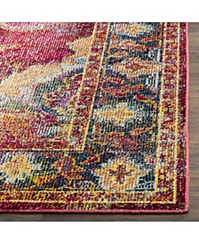 """Crystal Ruby and Navy 6'7"""" x 9'2"""" Area Rug"""